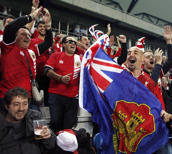 Gibraltar's supporters