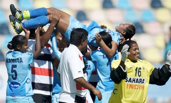 Team India celebrate their victory