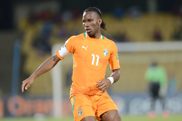 Didier Drogba during the 2013 African Cup of Nations match between Algeria and Ivory Coast at Royal Bafokeng Stadium