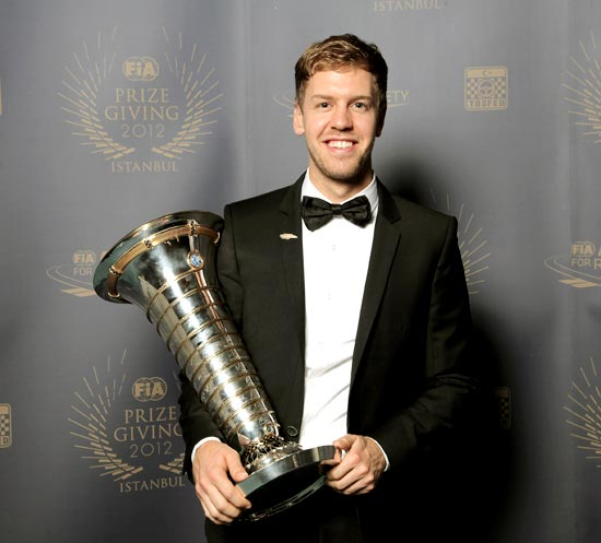 Sebastian Vettel holds the FIA Formula One World Championship driver