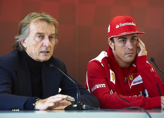 Ferrari chairman Luca Di Montezemolo with Fernando Alonso