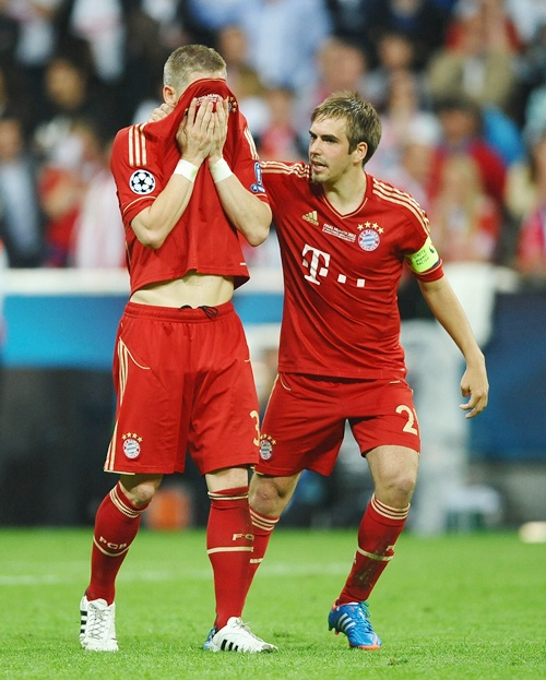 Bastian Schweinsteige (left) with Philipp Lahm