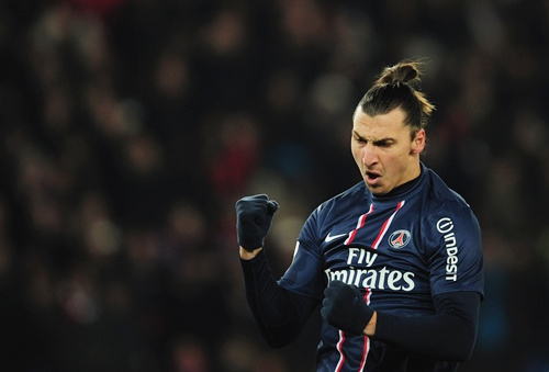 Zlatan Ibrahimovic of Paris Saint-Germain