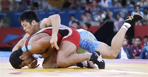 Sushil Kumar during a bout
