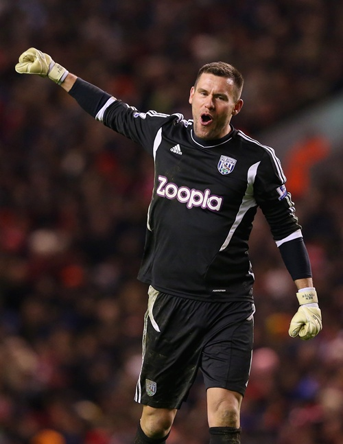 Ben Foster of West Bromwich Albion celebrates