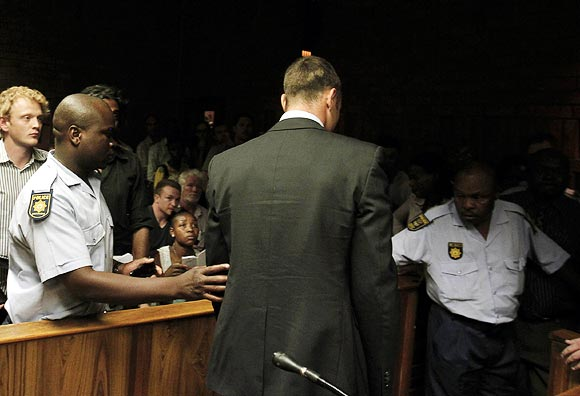 Oscar Pistorius during his court appearance in Pretoria