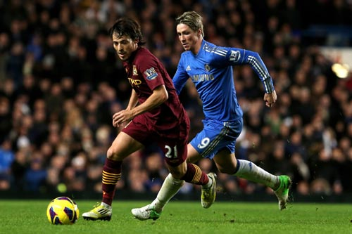 David Silva and Fernando Torres