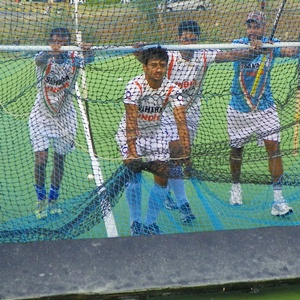 The Indian hockey team in training