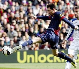Barca's Lionel Messi