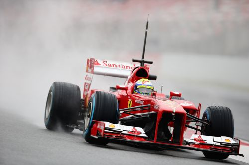 Felipe Massa of Brasil and Ferrari drives during day four of Formula One winter test