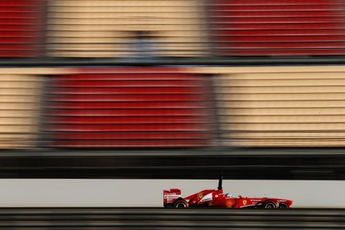 Fernando Alonso of Spain and Ferrari drives during day two of Formula One winter test