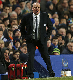 Chelsea coach Rafael Benitez