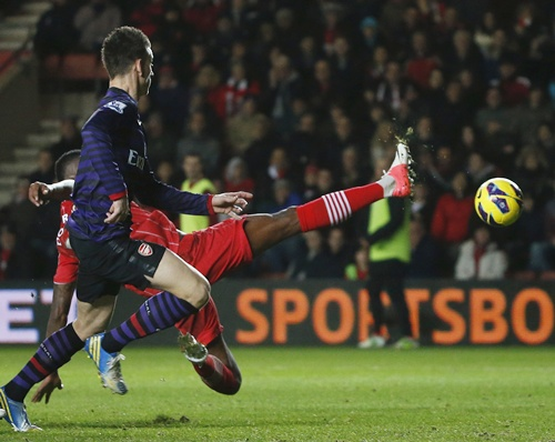 Southampton's Guly Do Prado (right) scores an own goal