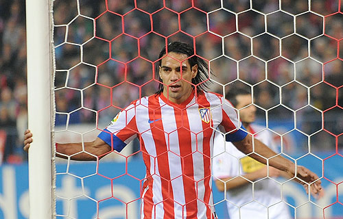 Radamel Falcao of Atletico Madrid