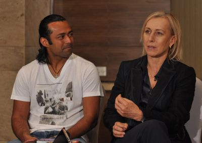 Leander Paes and Martina Navratilova
