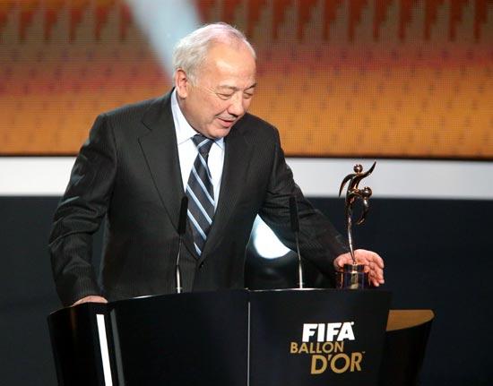 Uzbekistan football federation president Mirabror Usmanov