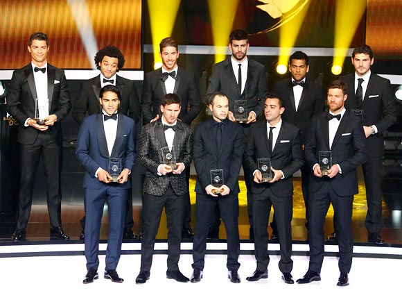 FIFA team of the year was entirely based on La Liga players