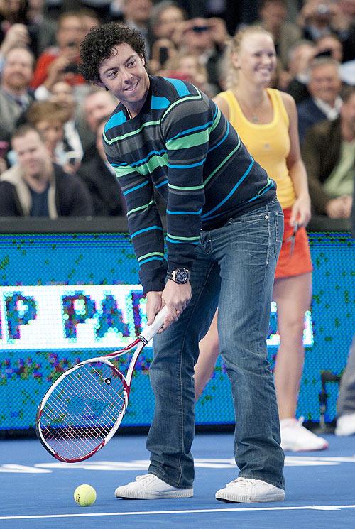 Rory McIlroy of Northern Ireland with his girlfriend Caroline Wozniacki