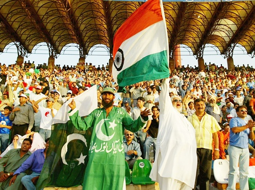 Pakistan and India supporters