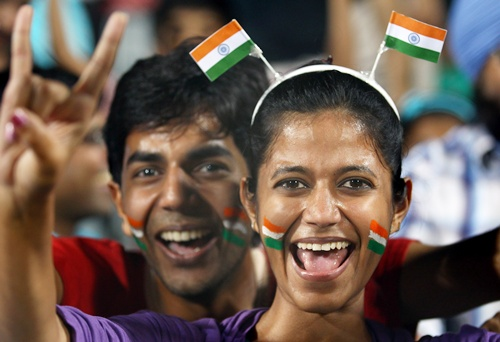 Indian fans celebrate