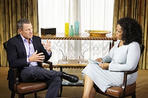 Lance Armstrong and Oprah Winfrey at the interview