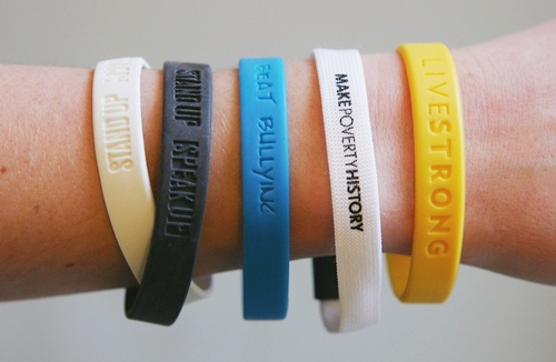 Photo illustration a selection of wrist bands