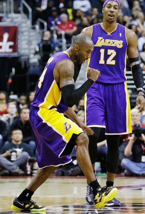 Kobe be joined by teammate Dwight Howard