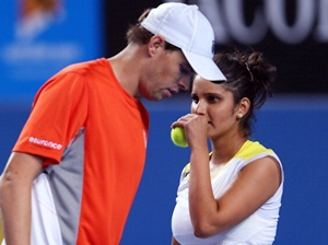 Bob Bryan and Sania Mirza at the Australian Open