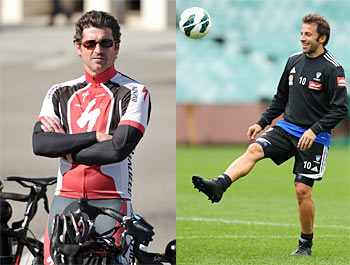 Actor Patrick Dempsey and Italian footballer Alessandro Del Piero