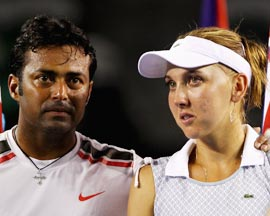 Paes and Elena Vesnina