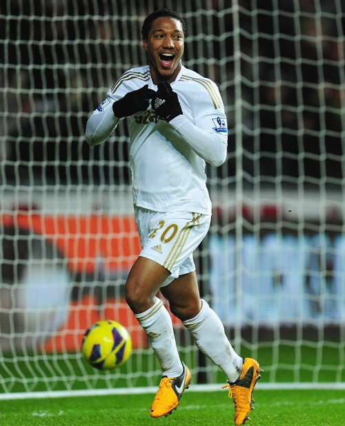 Swansea player Jonathan de Guzman