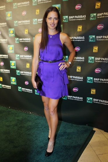 Ana Ivanovic of Serbia attends the Players' Party during the BNP Paribas Open at the IW Club in Indian Wells
