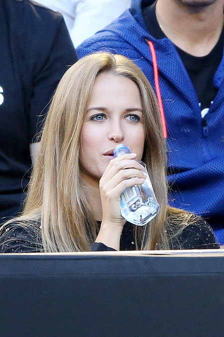 Andy Murray's girlfriend Kim Sears watches the final on Sunday