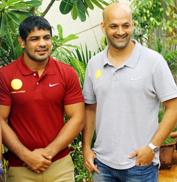 Sushil Kumar with Viren Rasquinha