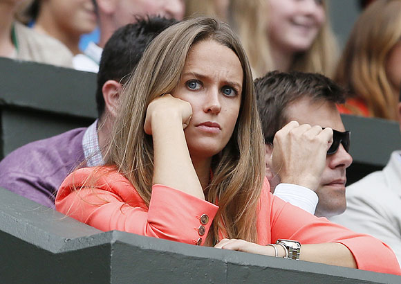 Kim Sears wears a tense look