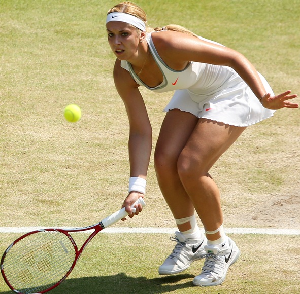 Sabine Lisicki of Germany plays a forehand