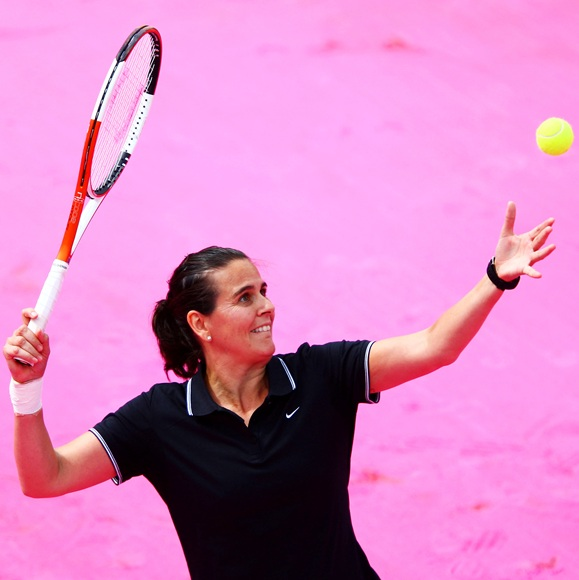 Conchita Martinez of Spain serves