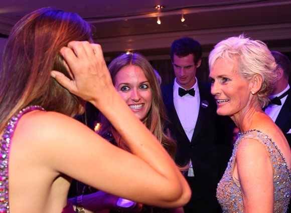 Judy Murray (right) and Kim Sears attend the Wimbledon Championships 2013 Winners Ball