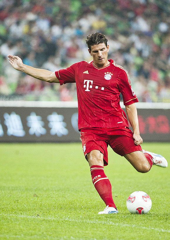 Mario Gomez of Bayern Munich