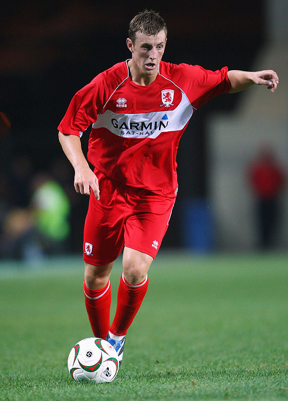 John Johnson playing for Middlesbrough in 2008