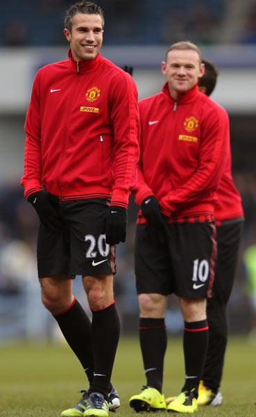 Robin Van Persie (left) and Wayne Rooney