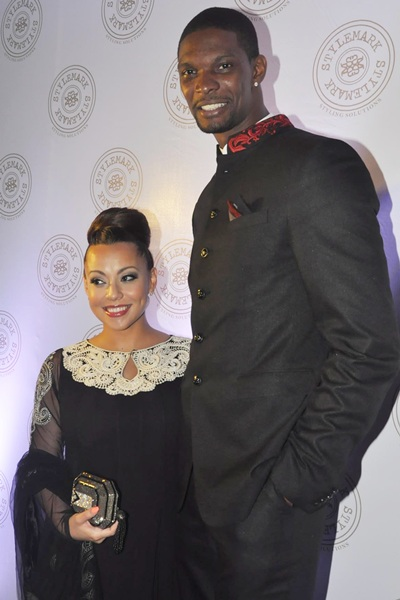 Chrish Bosh with wife Adrienne
