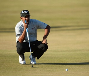 Shiv Kapur at the British Open in Friday