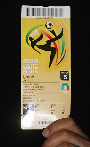 Football World Cup ticket