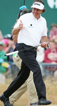 Sparkling 66 earns Mickelson first British Open win