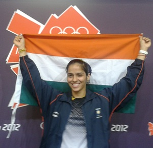 Saina Nehwal after winning bronze at the London Olympics