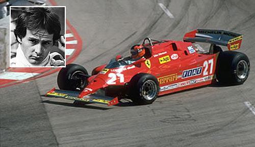 Ferrari's Canadian driver Gilles Villeneuve