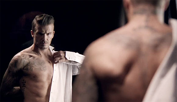David Beckham goes shirtless again in new ad campaign