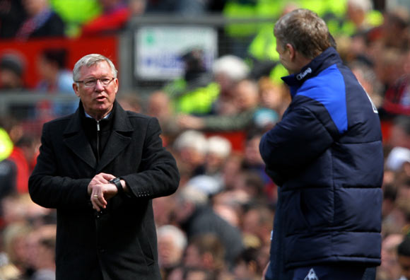 Alex Ferguson (left) with David Moyes