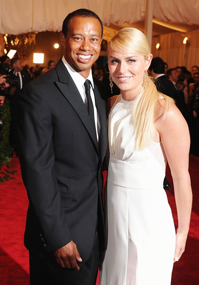 Tiger Woods and Lindsey Vonn attend the 2013 Costume Institute Gala